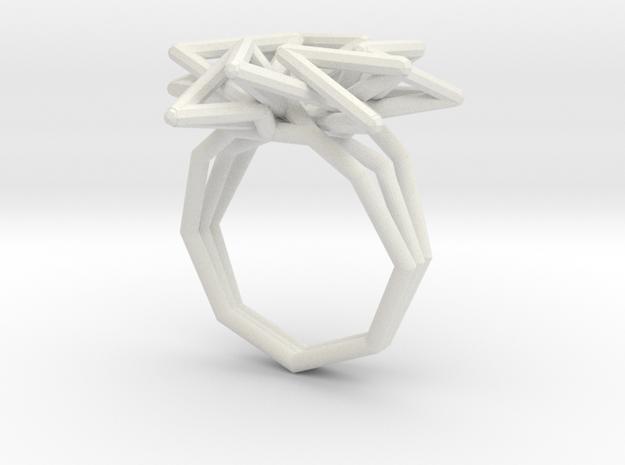 estelle burst ring (110%) in White Natural Versatile Plastic