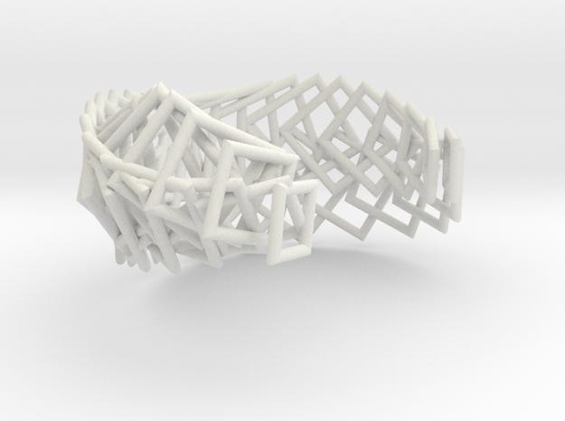Gold Steel Arithmetic Cuff FIXED in White Natural Versatile Plastic