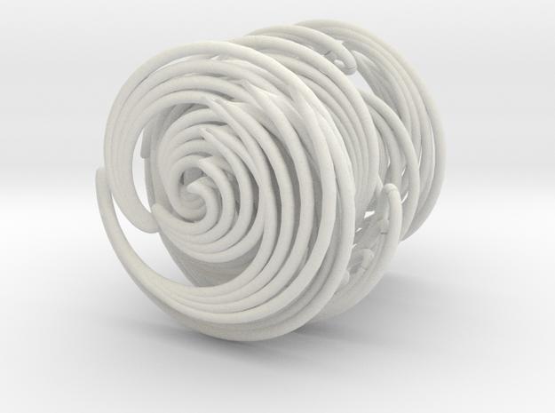 Rib Studs Uncaged in White Natural Versatile Plastic
