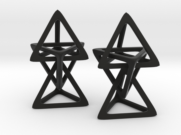 Hanging Tetrahedron in Black Natural Versatile Plastic