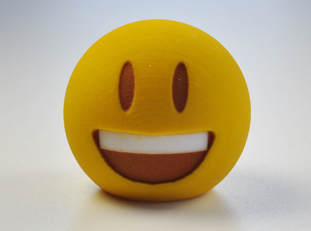3D Emoji The Grin