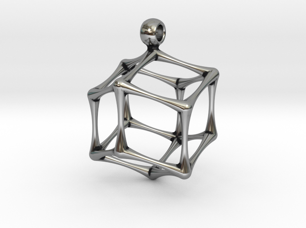 RHOMBIC DODECAHEDRON in Antique Silver