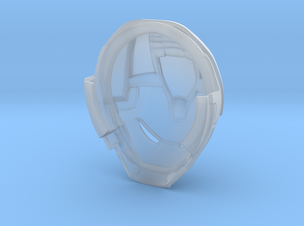 Hulkbuster Head (hi res/with rotation) in Smooth Fine Detail Plastic: Medium