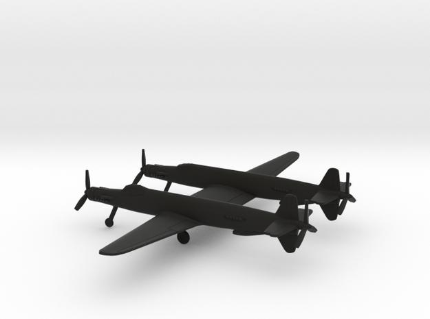 Junkers Ju-635 in Black Natural Versatile Plastic: 1:200