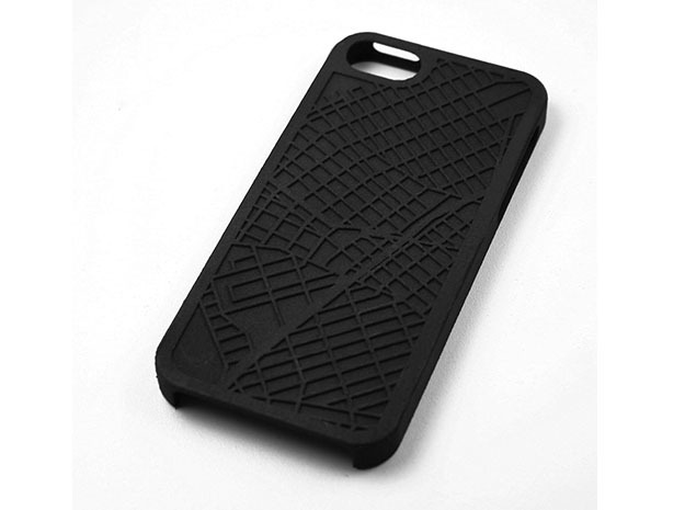 Williamsburg Brooklyn Map iPhone 5/5s Case in Black Strong & Flexible