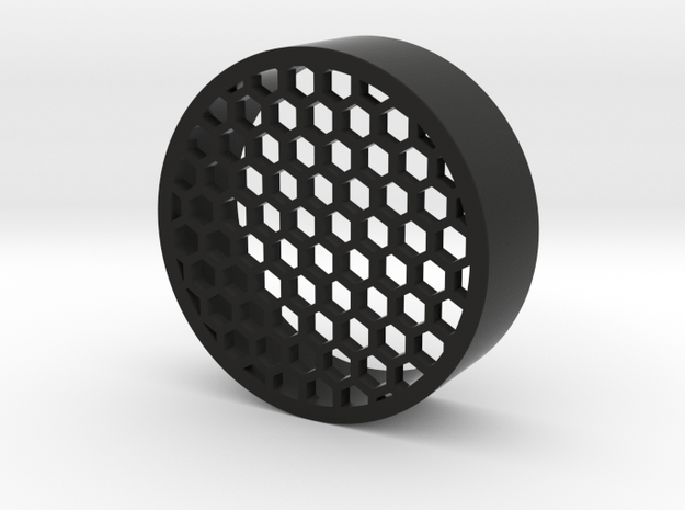 Honeycomb 55mm in Black Natural Versatile Plastic