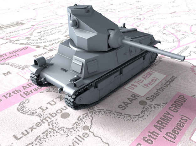 1/120 (TT) French SARL 42 Tank (75mm SA44 Gun) in Smooth Fine Detail Plastic