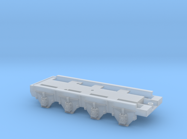 GWR Collett 8 Wheeled Tender Chassis in Smooth Fine Detail Plastic