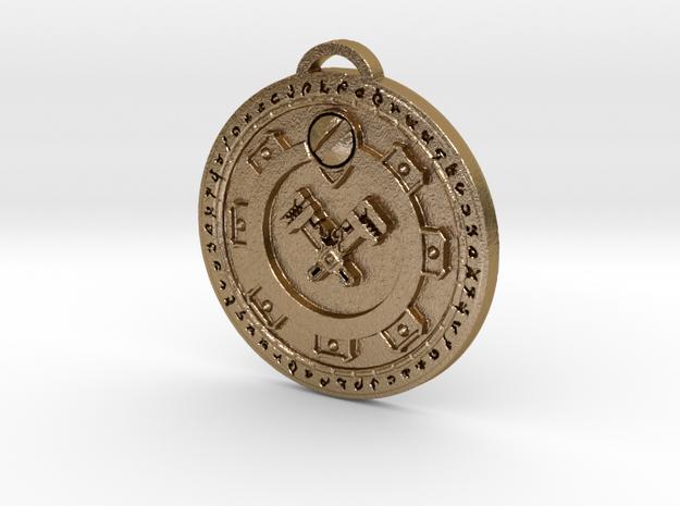 Gnomeregan Faction Medallion in Polished Gold Steel