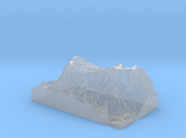 MyTinyDolomites_SassoCroce_HR in Smooth Fine Detail Plastic