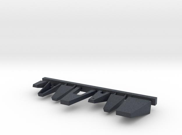 1/144 scale Burke Class Bridge Platforms in Black Professional Plastic