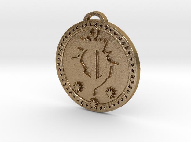 Kul Tiras Faction Medallion (Original) in Polished Gold Steel