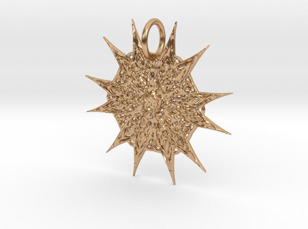 Celtic Starburst Pendant in Polished Bronze: Medium