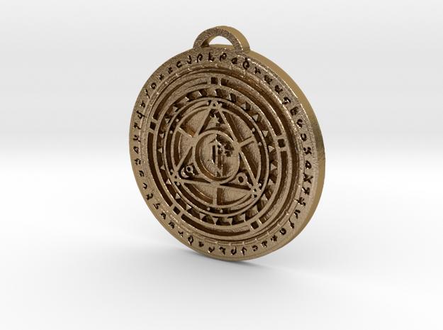 Lordaeron Faction Medallion (Royal Seal) in Polished Gold Steel