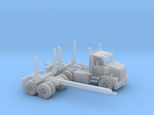 Logging Truck 1 S scale in Smooth Fine Detail Plastic