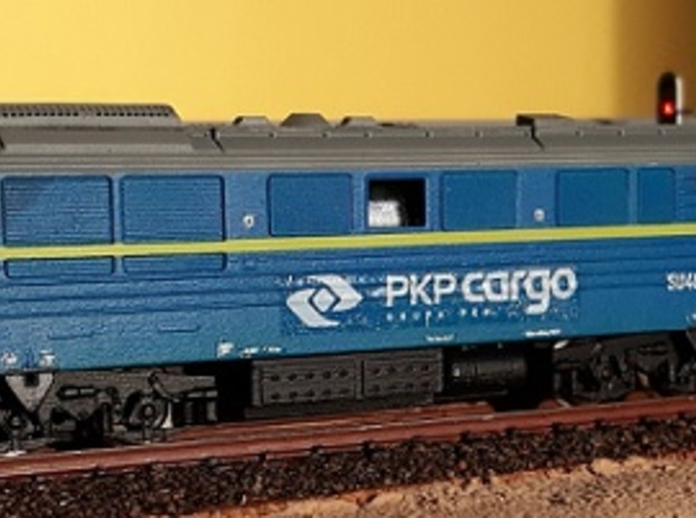 1:160 SU46 Body from 2000 like PKP CARGO - BLUE in Smoothest Fine Detail Plastic