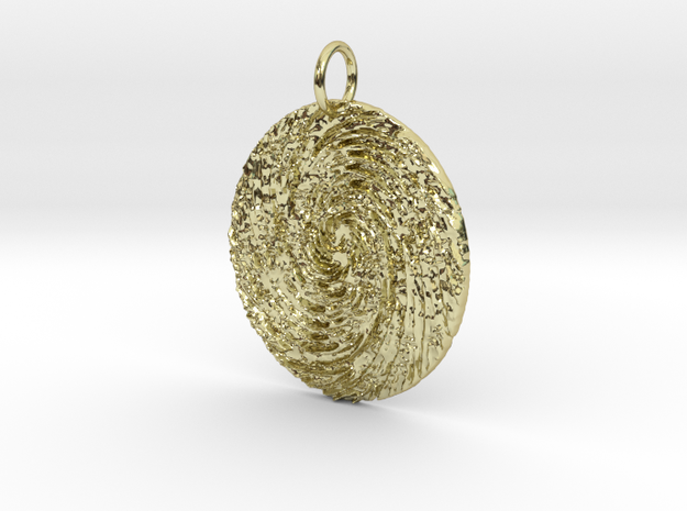 Circe's Whirlpool Pendant in 18K Yellow Gold: Large