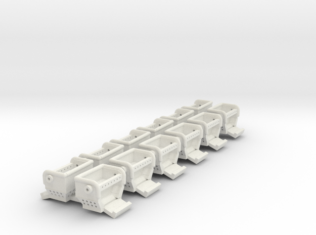 Eli HY-5 seats without the guards.   in White Natural Versatile Plastic