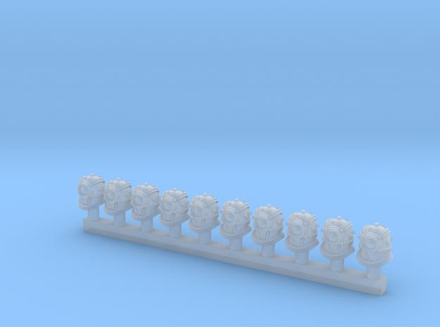Drudge Slave Heads, 10 Pack in Smoothest Fine Detail Plastic