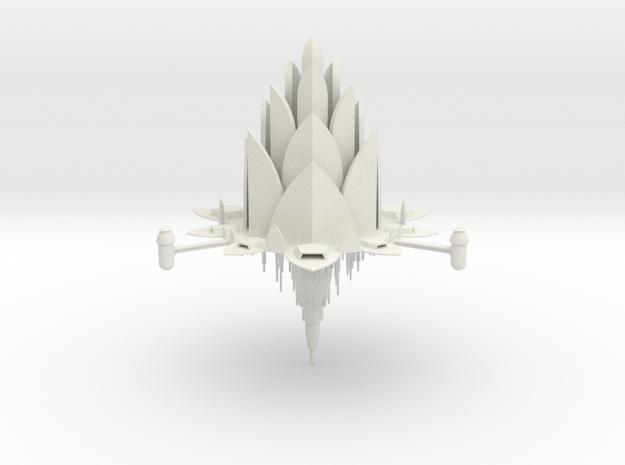 1/10 000 Orbiting Platform Lotus Design 1 in White Natural Versatile Plastic