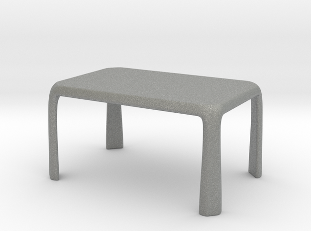 1:50 - Miniature Modern Dining Table  in Gray Professional Plastic