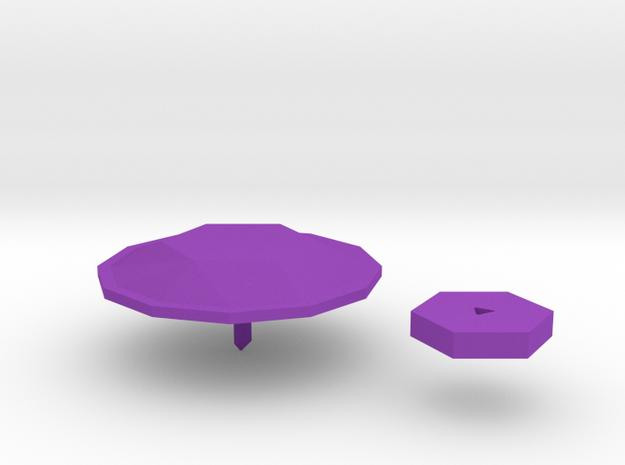 amethyst.badge in Purple Processed Versatile Plastic