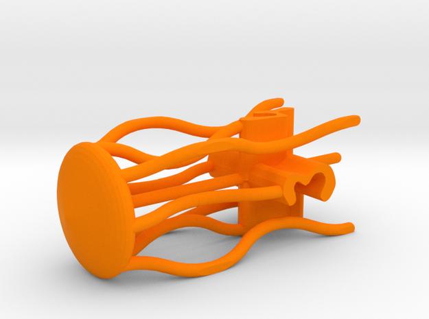 Jellyfish d4 in Orange Processed Versatile Plastic