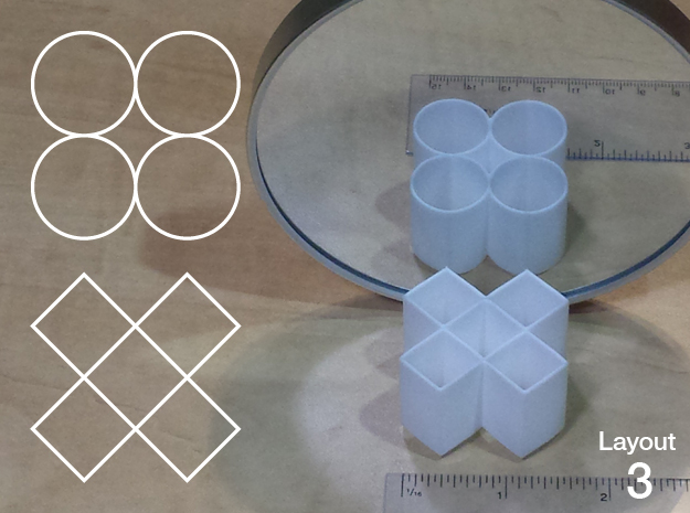 Improved Ambiguous Cylinder Illusion (Layout 3) in White Natural Versatile Plastic