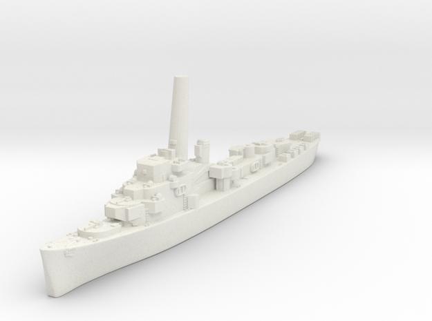 Buckley Class Destroyer Escort (USA) in White Natural Versatile Plastic
