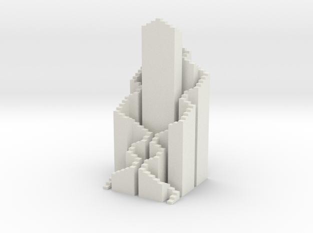 Hilbert Tower in White Natural Versatile Plastic
