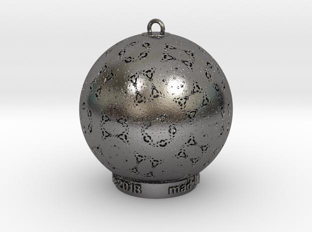 Native Solstice 2018 Ornament in Polished Nickel Steel: Medium