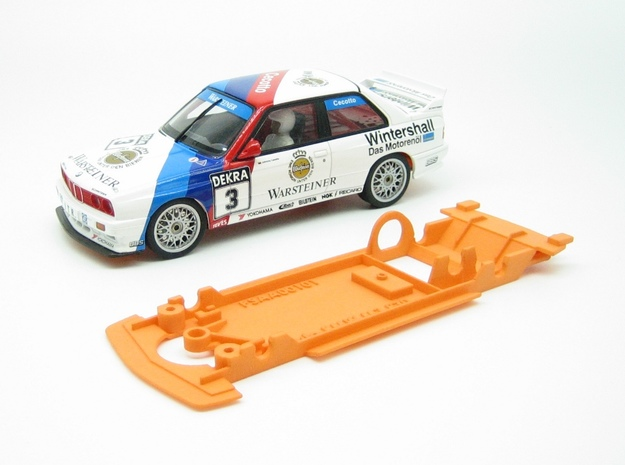 PSAA00101 Chassis for Autoart BMW M3 E30 DTM in Orange Processed Versatile Plastic