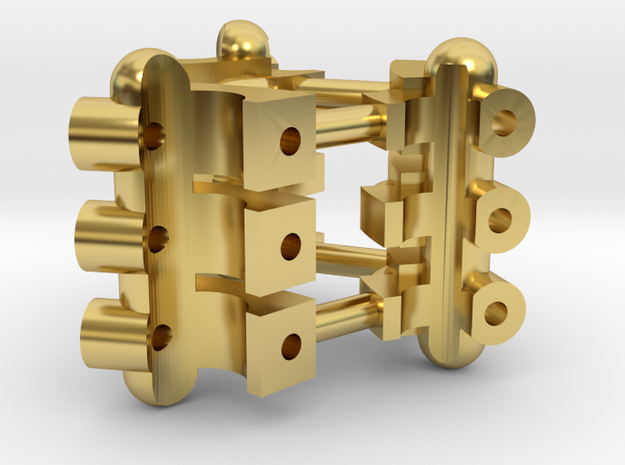 Part 01 Plasma Gate 2.0 tech-details in Polished Brass