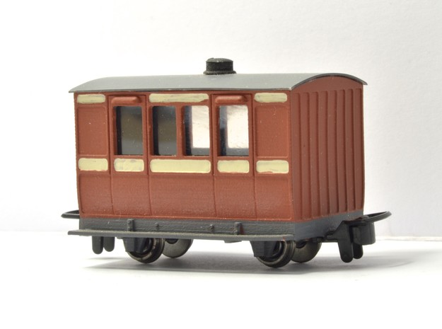 NWNGR 4w coach (009 scale) in Smooth Fine Detail Plastic