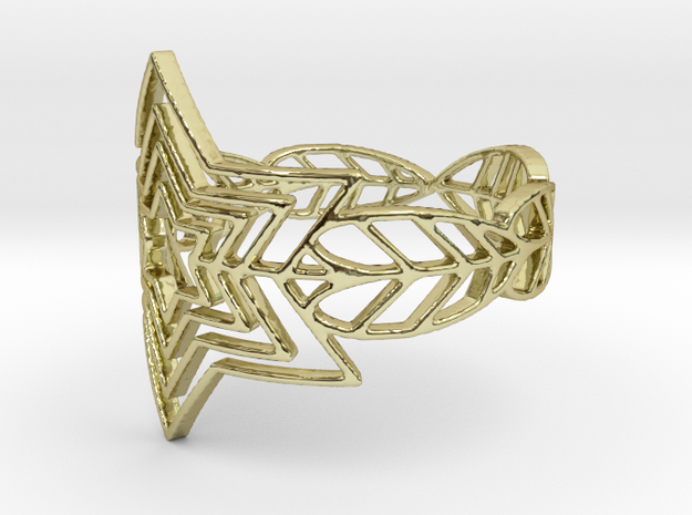 Filigree Starfeather Ring in 18K Yellow Gold: 6 / 51.5