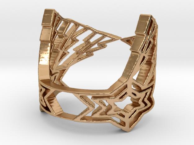 LightningStar Ring in Polished Bronze: 6 / 51.5