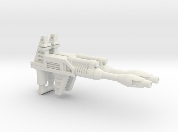 Prowl / Bluestreak / Smokescreen Rifle (3mm, 5mm) in White Natural Versatile Plastic: Medium