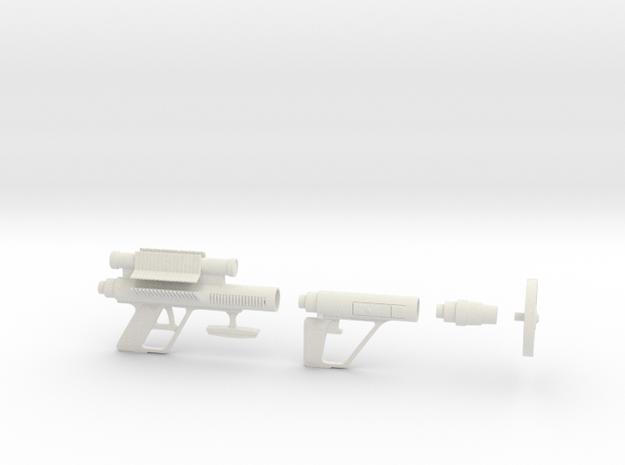 Lost in Space Mattel Roto-Jet Gun 1/6 Scale  in White Natural Versatile Plastic