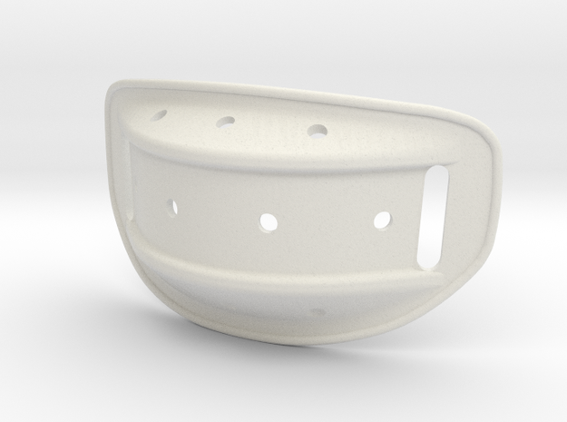 Helmet Chin Cup 1/2 Scale in White Natural Versatile Plastic
