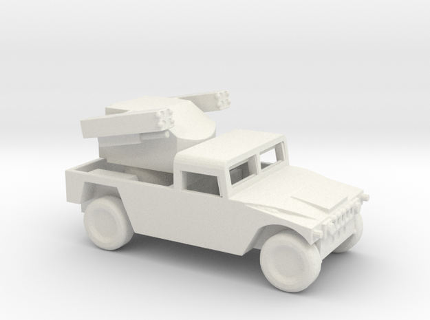 1/200 Scale Humvee Avenger SAM in White Natural Versatile Plastic