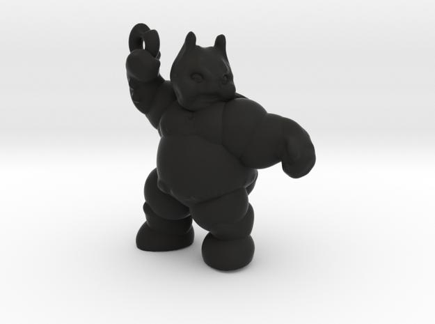 Fatman throwing Donut in Black Natural Versatile Plastic