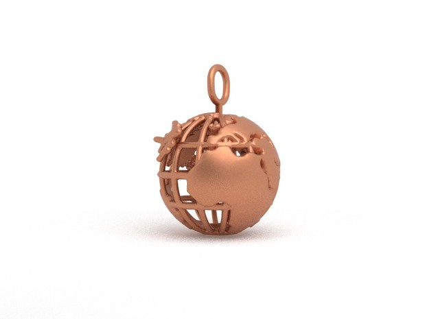 Earth Spinning Flamingo in Natural Bronze (Interlocking Parts)