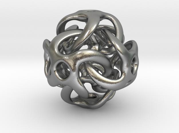 Tetra Hoz Steroidz - 25mm pendant in Natural Silver