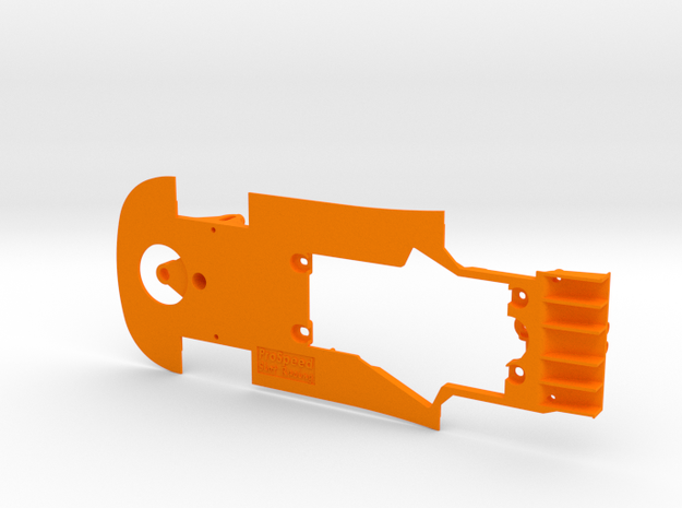 PSNI00301 Chassis for Ninco Ford GT GT3 in Orange Processed Versatile Plastic