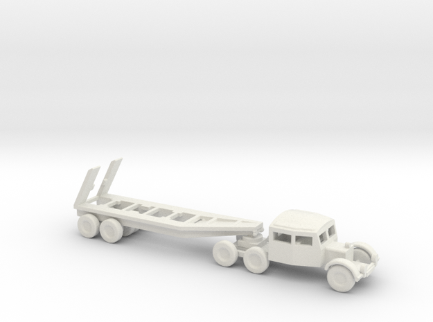 1/200 Scale Scammel Tank Transporter And Trailer in White Natural Versatile Plastic