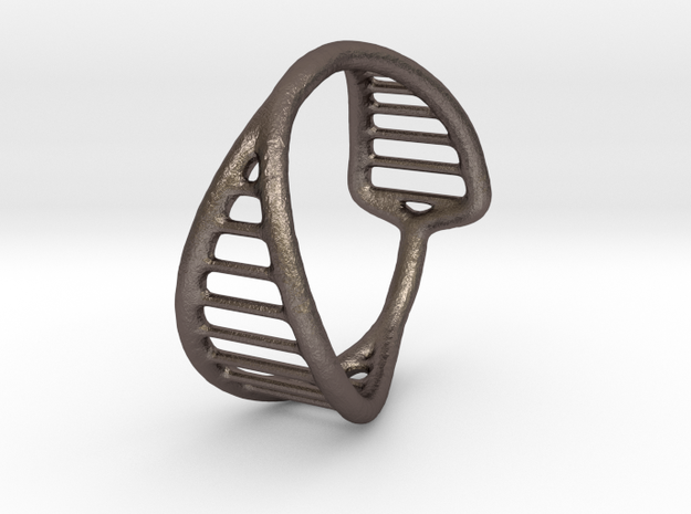 Ring 16 in Polished Bronzed-Silver Steel