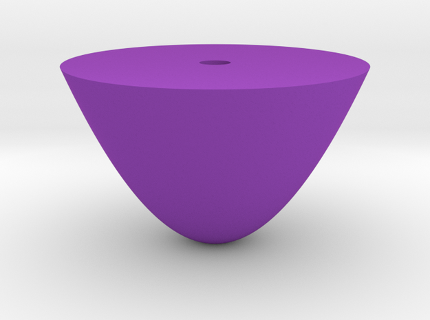 paraboloid in Purple Processed Versatile Plastic