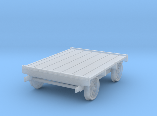 HO Scale Sheffield No 4 Standard Gauge Push Car in Smooth Fine Detail Plastic