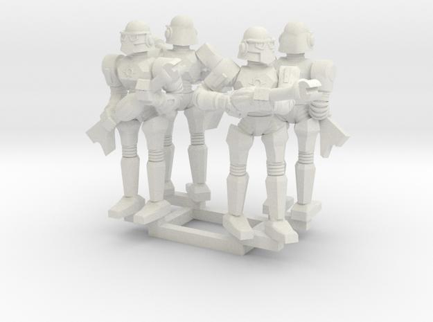 Minion Bots Posed Four in White Natural Versatile Plastic
