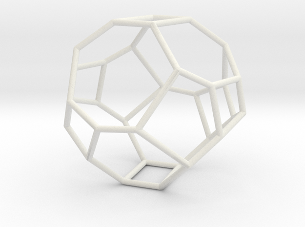 """Irregular"" polyhedron no. 3 in White Natural Versatile Plastic: Large"